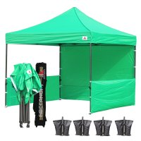 AbcCanopy 3MX3M Deluxe Kelly Green Pop Up Canopy Trade Show Both