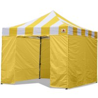 AbcCanopy Carnival Canopy 3x3 Yellow With Yellow Walls Ez Part Tent Bouns 6 Walls