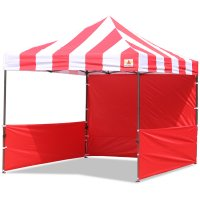 AbcCanopy Carnival 3x3 Red With Red Walls Pop Up Tent Trade Show Booth Canopy W/ Wheeled bag