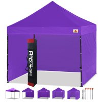 3 x 3m Enclosed Pop up Canopy Commercial Shelter Backyard Gazebo(Purple)