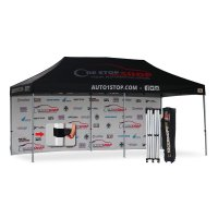 AbcCanopy full digital printed 3mx6m Custom Canopy tent Gazebo with 6m back wall