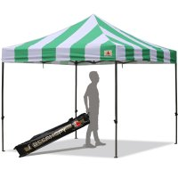 AbcCanopy Carnival 3x3 Green And White Pop Up Canopy Popcorn Cotton Candy Vending Tent