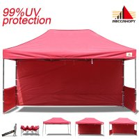 AbcCanopy 3MX4.5M Deluxe Burgundy Pop Up Canopy Trade Show Both