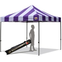 AbcCanopy Carnival 3x3 Purple And White Pop Up Canopy Popcorn Cotton Candy Vending Tent