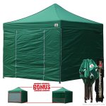 Forest Green 3m x 3m Pop Up Canopy Folding Gazebo W/6 SideWalls