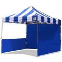 AbcCanopy Carnival 3x3 Blue With Blue Walls Pop Up Tent Trade Show Booth Canopy W/ Wheeled bag