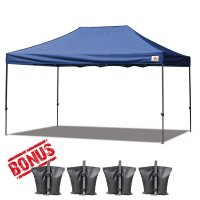 AbcCanopy 3MX4.5M Deluxe Navy Blue Pop Up Canopy With Roller Bag