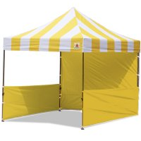 AbcCanopy Carnival 3x3 Yellow With Yellow Walls Pop Up Tent Trade Show Booth Canopy W/ Wheeled bag