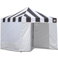 AbcCanopy Carnival Canopy 3x3 Black With White Walls Ez Part Tent Bouns 6 Walls