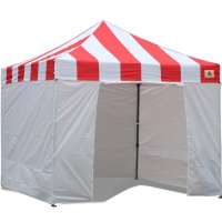 AbcCanopy Carnival Canopy 3x3 Red With White Walls Ez Part Tent Bouns 6 Walls