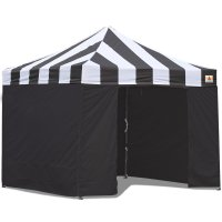 AbcCanopy Carnival Canopy 3x3 Black With Black Walls Ez Part Tent Bouns 6 Walls