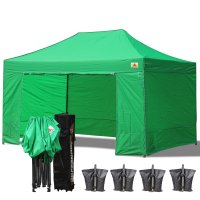AbcCanopy 3MX4.5M Deluxe Kelly Green Package Tent With Roller Bag
