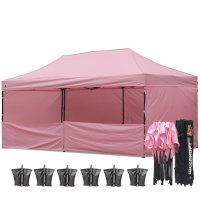 AbcCanopy 3MX6M Deluxe Pink Pop Up Canopy Trade Show Both