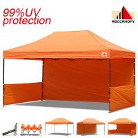 AbcCanopy 3Mx4.5M Deluxe Orange Pop Up Canopy Trade Show Both