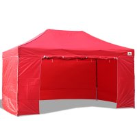 3x4.5m Enclosed Pop up Canopy Commercial Shelter Backyard Gazebo