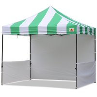 AbcCanopy Carnival 3x3 Green With White Walls Pop Up Tent Trade Show Booth Canopy W/ Wheeled bag