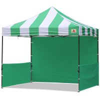 AbcCanopy Carnival 3x3 Green With Green Walls Pop Up Tent Trade Show Booth Canopy W/ Wheeled bag