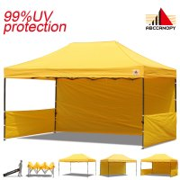 AbcCanopy 3MX4.5M Deluxe Gold Pop Up Canopy Trade Show Both