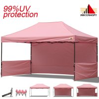 AbcCanopy 3MX4.5M Deluxe Pink Pop Up Canopy Trade Show Both