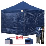 Navy Blue 3m x 3m Pop Up Canopy Folding Gazebo W/6 SideWalls
