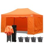 AbcCanopy 3MX4.5M Deluxe Orange Package Tent With Roller Bag