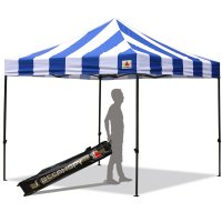 AbcCanopy Carnival 3x3 Blue And White Pop Up Canopy Popcorn Cotton Candy Vending Tent
