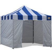 AbcCanopy Carnival Canopy 3x3 Blue With White Walls Ez Part Tent Bouns 6 Walls
