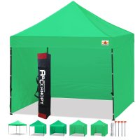 3 x 3m Enclosed Pop up Canopy Commercial Shelter Backyard Gazebo(Kelly Green)