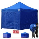 Royal Blue 3m x 3m Pop Up Canopy Folding Gazebo W/6 SideWalls