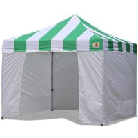 AbcCanopy Carnival Canopy 3x3 Green With White Walls Ez Part Tent Bouns 6 Walls