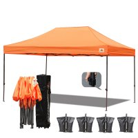 AbcCanopy 3MX4.5M Deluxe Orange Pop Up Canopy With Roller Bag