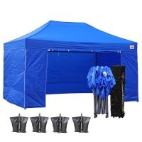 AbcCanopy 10x15 Deluxe Royal Blue Package Tent With Roller Bag