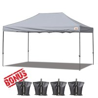 AbcCanopy 3MX4.5M Deluxe Gray Pop Up Canopy With Roller Bag