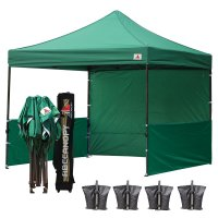AbcCanopy 3MX3M Deluxe Forest Green Pop Up Canopy Trade Show Both