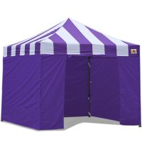 AbcCanopy Carnival Canopy 3x3 Purple With Purple Walls Ez Part Tent Bouns 6 Walls