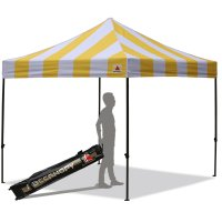 AbcCanopy Carnival 3X3 Yellow And White Pop Up Canopy Popcorn Cotton Candy Vending Tent