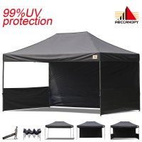 AbcCanopy 3MX4.5M Deluxe Black Pop Up Canopy Trade Show Both