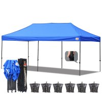AbcCanopy 3MX6M Deluxe Royal Blue Pop Up Canopy With Roller Bag
