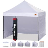 3 x 3m Enclosed Pop up Canopy Commercial Shelter Backyard Gazebo(white)