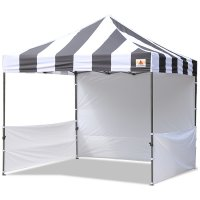 AbcCanopy Carnival 3x3 Black With White Walls Pop Up Tent Trade Show Booth Canopy W/ Wheeled bag