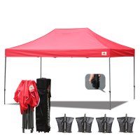 Red 3m x 4.5m Ez Pop up Canopy Instant Shelter Outdor Party Tent
