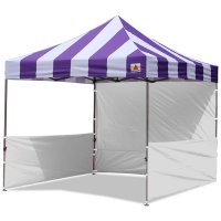 AbcCanopy Carnival 3x3 Purple With White Walls Pop Up Tent Trade Show Booth Canopy W/ Wheeled bag
