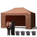 AbcCanopy 3MX4.5M Deluxe Brown Package Tent With Roller Bag
