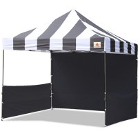 AbcCanopy Carnival 3x3 Black With Black Walls Pop Up Tent Trade Show Booth Canopy W/ Wheeled bag