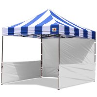 AbcCanopy Carnival 3x3 Blue With White Walls Pop Up Tent Trade Show Booth Canopy W/ Wheeled bag