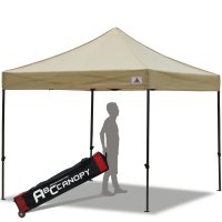 Abccanopy 3m x 3m Pop up Canopy Instant Shelter Outdor Party Tent Gazebo(Beige)