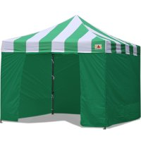 AbcCanopy Carnival Canopy 3x3 Green With Green Walls Ez Part Tent Bouns 6 Walls