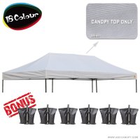 AbcCanopy 3MX6M Pop Up Canopy Replacement Top 100% waterproof - Come with 4 Weight Bag