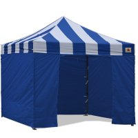 AbcCanopy Carnival Canopy 3x3 Blue With Blue Walls Ez Part Tent Bouns 6 Walls
