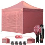 Pink 3m x 3m Pop Up Canopy Folding Gazebo W/6 SideWalls